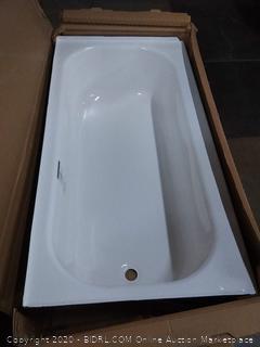 Briggs bath pendant porcelain finished steel bathtub 60×30×14 1/4 inches