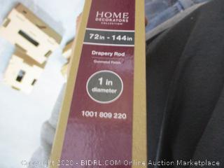 Home Decorators 1 in Drapery Rod (Gunmetal Finish)