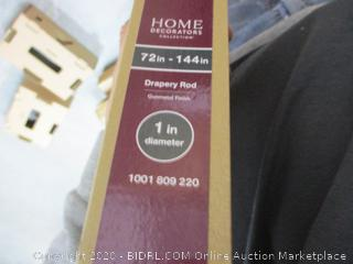 Home Decorators 1 in Drapery Rod (Gunmetal Finish)