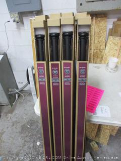 Home Decorators 1 in Drapery Rod (Matte Black Finish)