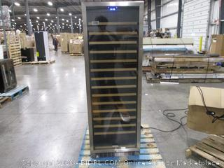 "Edgestar - 166 Bottle 24"" Built-In Wine Cooler - Single Zone - Reversible Door"