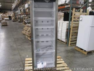 EdgeStar 14 Cu. Ft. Commercial Beverage Merchandiser - White and Stainless Steel (Both panes of glass broken)