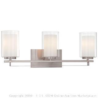 Minka Lavery 6103-84 Parsons Studio 3-Light Bath Brushed Nickel (online $159)