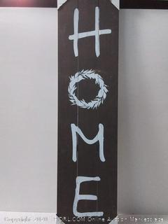 I/O 12-IN x 48-IN Home Wood Art (online $59)