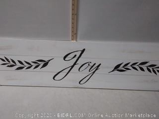 I/O 12-IN x 48-IN Joy Wood Art (online $59)