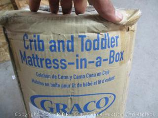 Crib and Toddler Mattress-in-a-Box (See Pictures)