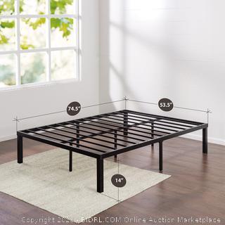 zinus full size metal platform bed frame (online $92)