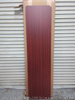 "Iceberg ICE55284 Premium Wood Laminate Folding Table with Brown Steel Legs, 18"" Length x 72"" Width x 29"" Height, Mahogany( Nick in corner) (online $129)"