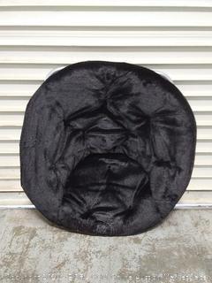 saucer chair black