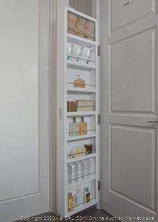 Cabidor Deluxe Mirrored Behind The Door Adjustable Medicine, Bathroom, & Kitchen Storage Cabinet White (online $158)