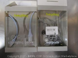 Heyday Charging Cable & Earbuds