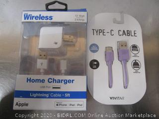 Wireless Home Charger, Type-C Cable