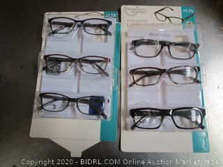 DesignOptics Foster Grant Reading Glasses Ladies Fashion +1.75