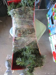 Holiday Living Pre-Lit Pine Garland w/ Timer