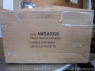 2 Shelf End Table