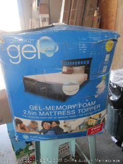Novaform Gel Memory Foam Mattress Topper