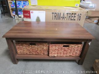 Coffee Table w/ Baskets