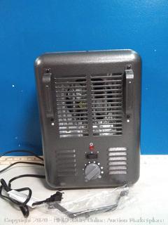 OmniHeat 1500-Watt Utility Fan Utility Electric Space Heater(powers on)