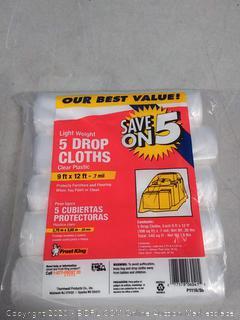 Frost King 5pck Plastic Drop Cloths