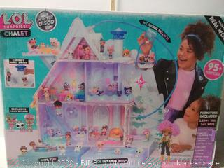 L.O.L. Surprise! Winter Disco Chalet Wooden Doll House with Exclusive Family & 95+ Surprises (online $249)