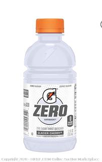 Gatorade zero Glacier Cherry 12 fluid ounce 24 pack
