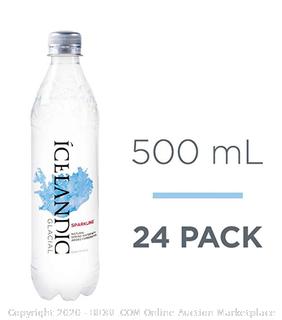 Icelandic Glacier sparkling Natural Spring Water 24 pack 500ml (Online $24)