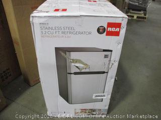 RCA Stainless Steel 3.2 Cu Ft Refrigerator
