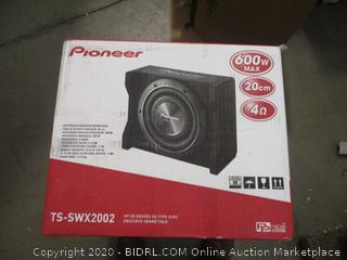 """Pioneer 8"""" Shallow-Mount Pre-Loaded 600W Subwoofer Enclosure"""