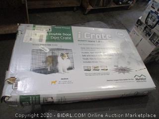 iCrate Double Door Dog Crate Size Medium (Box Damage)