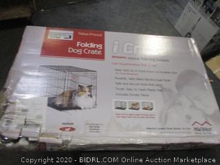 iCrate Folding Dog Crate (Box Damaged)