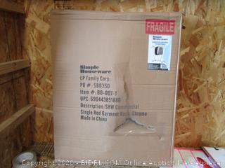 Commercial Single Rod Garment Rack (Box Damage)