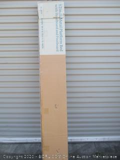 "12"" Metal Platform Bed w/ Headboard and Footboard Size Queen"