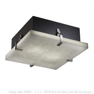 Justice Design Group Lighting CLD-5557-NCKL-LED3-3000 Square Flush-Mount-LED (Retail $250)