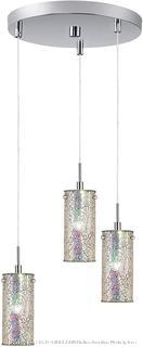Woodbridge Lighting 13424STN-M10IRI 3-Light 3-Port Mini Pendant Cluster (Retail $250)