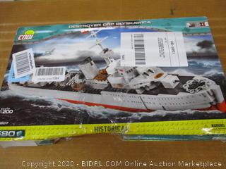 "Cobi Small Army /4807/ Destroyer ORP ""Blyskawica"" (Lightning), 1:200 scale"