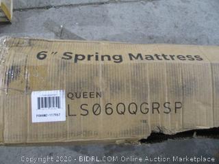"""6"""" Spring Mattress  Queen"""