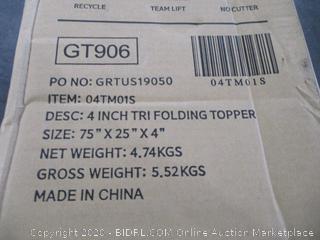 4 Inch Tri folding Topper