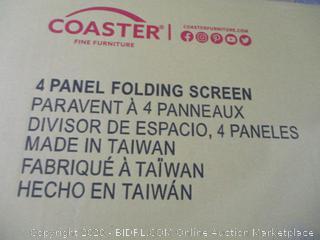 Coaster 4 Panel Folding Screen
