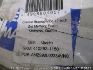 Classic Brands Vibe 12 inch Ge Memory Foam Mattress Queen