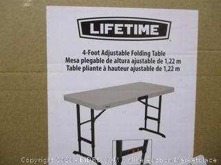 Lifetime 4-Foot Adjustable Folding Table
