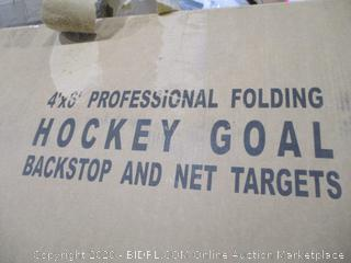 Professional Folding Hockey goal backstop and Net Target