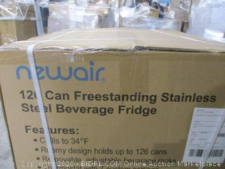 Newair Freestanding stainless Steel Beverage Fridge