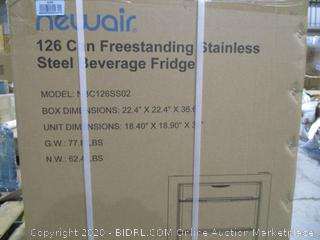 Newair Freestanding stainless Steel Beverage Fridge  126 can