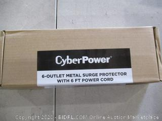 Cyber Power 6-Outlet Metal Surge Protector with 6 Ft Power Cord