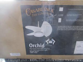 Orchid 30in Pewter Revival Ceiling Fan with light