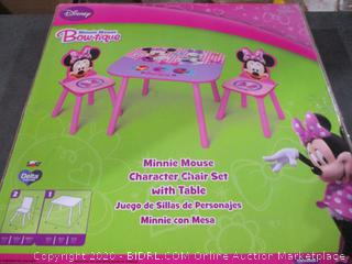 Disney Minnie Mouse Table and Chairs