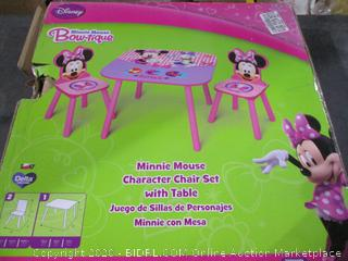Disney Minnie table and Chars