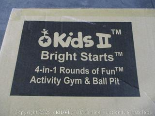 Kids II Bright Starts 4 in1 Rounds of fun Activity Gym  Ball pit