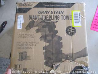 Go Sports Gray Stain Giant Toppling Tower