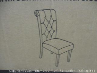 2pc Tufted Dining Chair